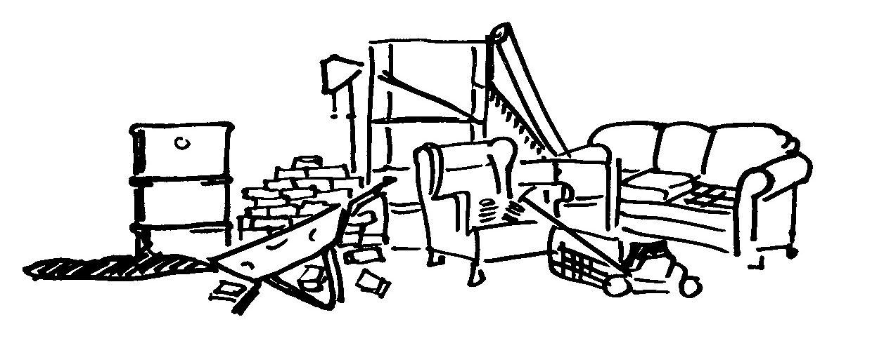 Abfälle, Gerümpel & Wertstoffe